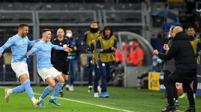 Manchester City berhasil lolos ke semifinal Liga Champions seusai meraih kemenangan 2-1 atas Borussia Dortmund. Mereka berhasil menang agregat 4-2.