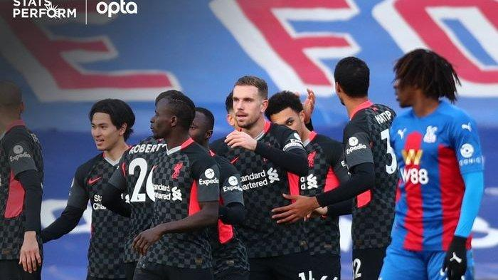 Hasil Liga Inggris - Firmino dan Salah Cetak Brace, Liverpool Lumat Crystal Palace 7 Gol Tanpa Balas