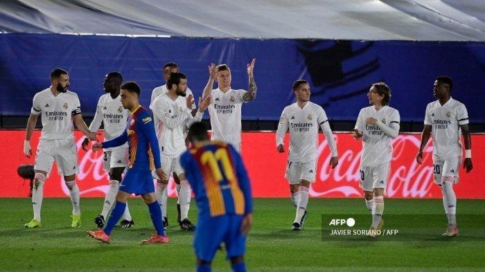Hasil Liga Spanyol - Permalukan Barcelona, Real Madrid Kuasai Puncak Klasemen