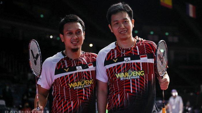 Hasil Thailand Open 2021 - Kalahkan Kompatriot, Ahsan/Hendra Lolos ke Perempat Final