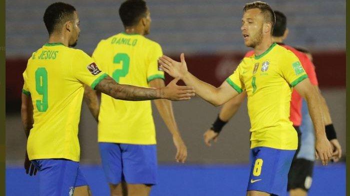 Hasil Uruguay vs Brasil - Cavani Kartu Merah, Tim Samba Menang 2-0
