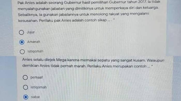 HEBOH Soal Ujian 'Anies Selalu Diejek Mega Namun Tak Marah', Disdik: Oknum Guru Sudah Diberi Teguran