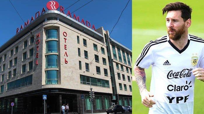 Sebelum Argentina Ditekuk Prancis, Lionel Messi Menginap di Hotel ini, Ada Gambar Cristiano Ronaldo
