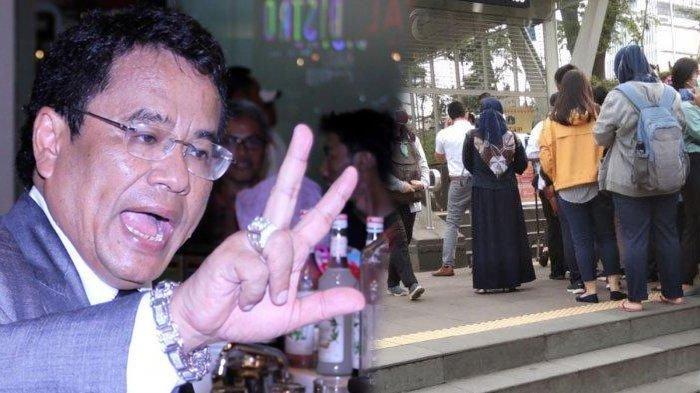 Hotman Paris Kritik Anies Baswedan, Unggah Video Antrian MRT & TransJakarta Mengular: Why?