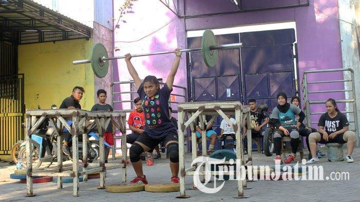 Atlet Angkat Besi Kota Kediri Tetap Gelar Latihan di Tengah Terpaan Pandemi Covid-19