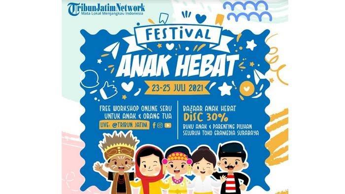 Sambut Hari Anak Nasional, Tribun Jatim Network dan Gramedia Surabaya Gelar Festival Anak Hebat