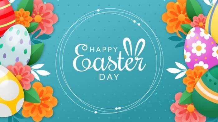 Ilustrasi - Happy Easter Day, Ucapan Selamat Paskah 2021.
