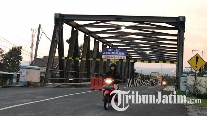 Jembatan Karangrejo Tulungagung Belum Bisa Dilalui Mobil Barang, Rp 1,5 M Diusulkan untuk Perbaikan