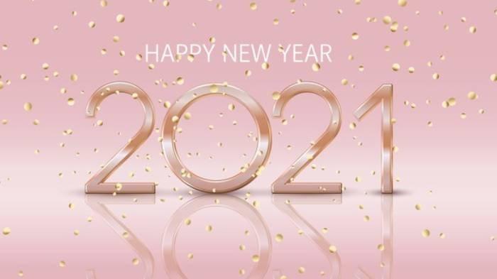 Ilustrasi - Ucapan selamat Tahun Baru 2021.