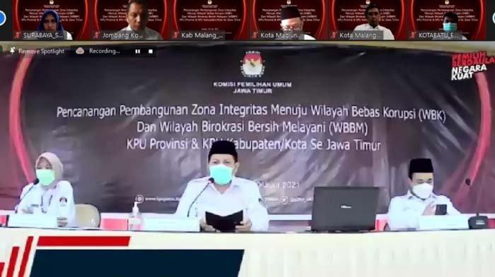 Gelar Deklarasi Zona Integritas, KPU Jawa Timur Pastikan Optimalnya Pelayanan