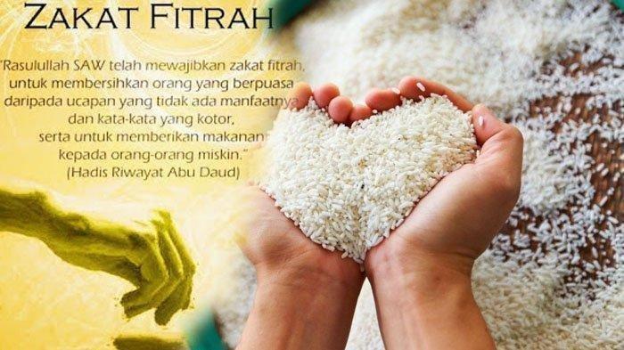 ILUSTRASI Membayar zakat fitrah di Ramadhan 2020.