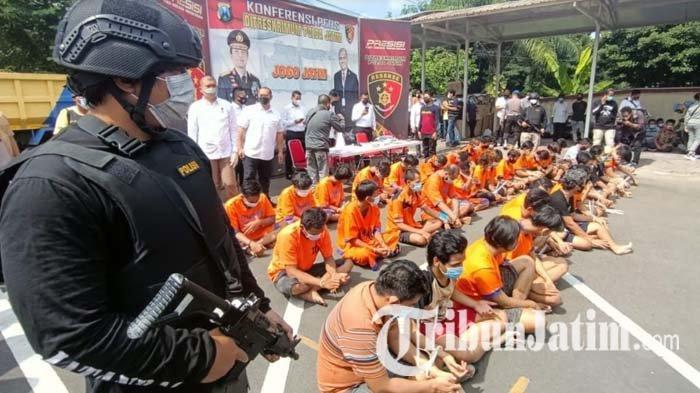 Berantas Praktik Premanisme, Polda Jatim Amankan 67 Preman di Pelabuhan, Terminal dan Pangkalan Truk