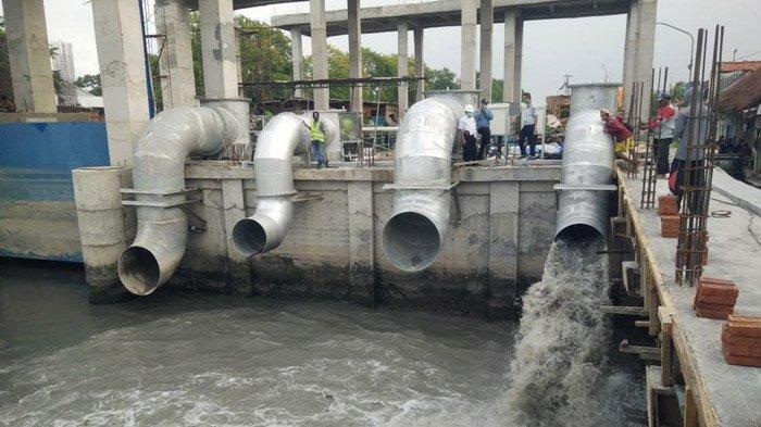Penambahan Pompa Petekan Surabaya Rampung, Uji Coba Selesai Dilakukan, Siap Kendalikan Banjir