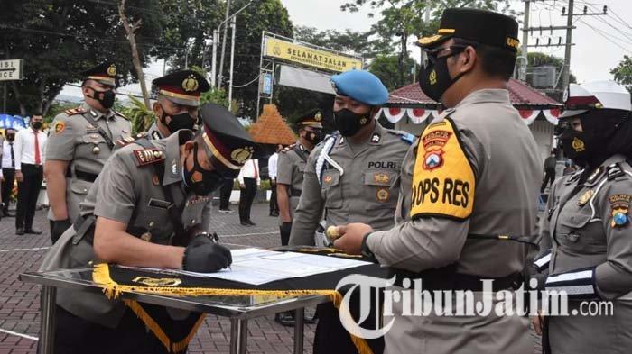 Para Pejabat Utama Polres Trenggalek Berganti, Kapolres: Optimalkan Peran Tangani Covid-19