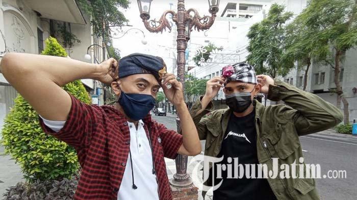 Sasar Anak Muda Surabaya, Udeng Ksatrian Surya Anagata Buat Kreasi dari Denim dan Flanel