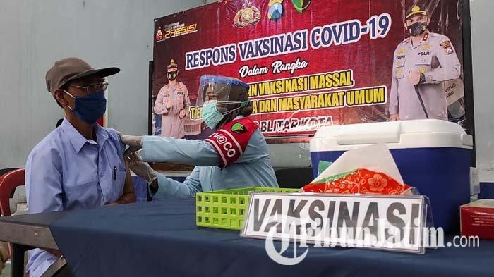Polres Blitar Kota Gelar Vaksinasi Covid-19 untuk Masyarakat, Targetkan 250 Orang per Hari