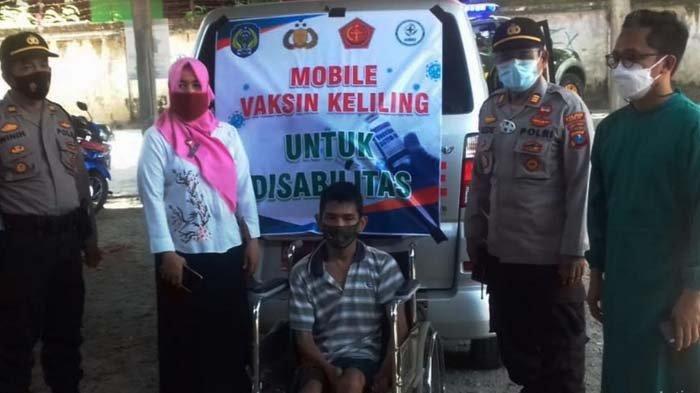 Percepatan Vaksinasi Covid-19, Satgas Kecamatan Menyasar Warga Penyandang Disabilitas