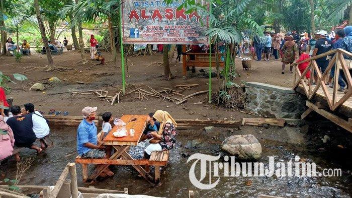 Wisata Alam Alaska di Desa Tempurejo, Kecamatan Wates, Kabupaten Kediri, Kamis (29/10/2020).