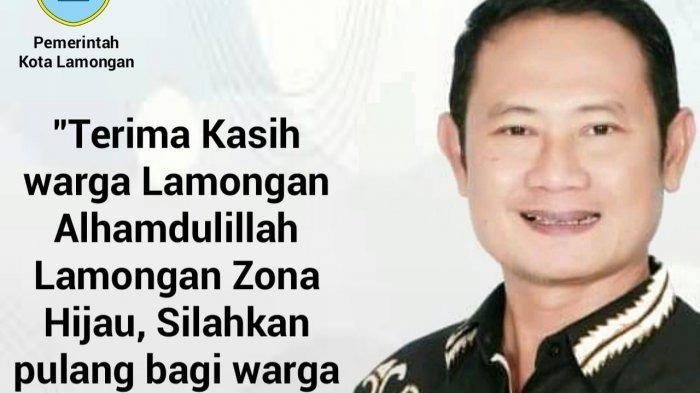 Bupati Lamongan Jadi Korban di Medsos, PPKM Level 1 Dipolitisir Rugikan Yuhronur
