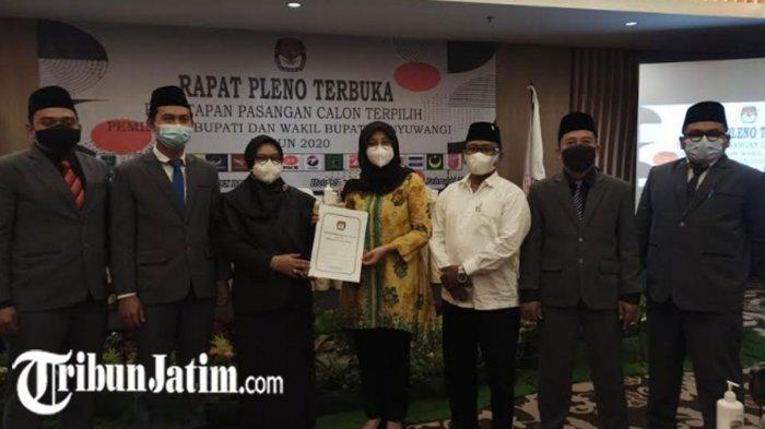 KPU Resmi Tetapkan Ipuk dan Sugirah Bupati-Wakil Bupati Banyuwangi Terpilih, Menang 438.847 Suara