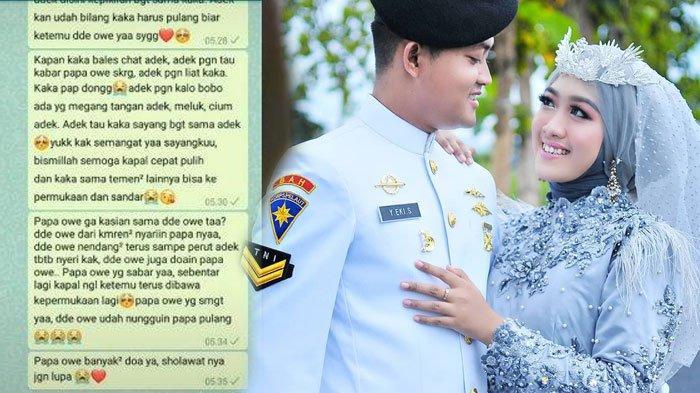 'Dede Nyariin Papa', Chat Terakhir Istri Awak KRI Nanggala yang Lagi Hamil ke Suami, Banjir Doa Pilu