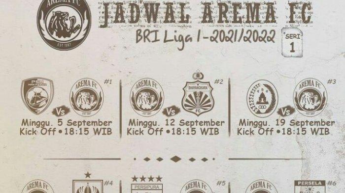 Update Jadwal Liga 1 2021, Arema FC Jumpa PSM Makassar di Pekan Pertama
