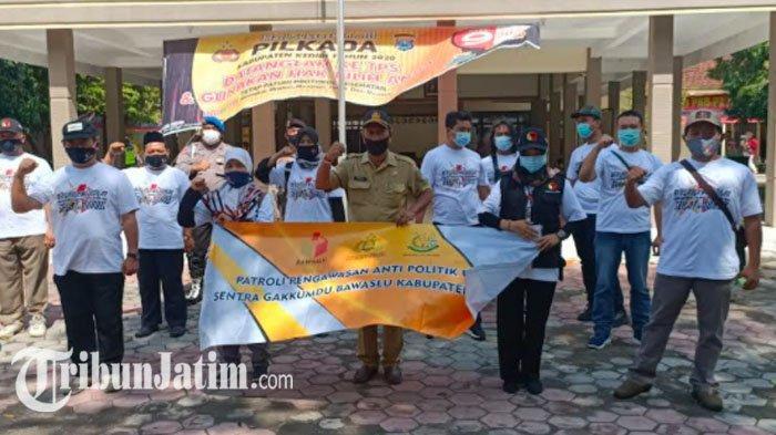 Hari Terakhir Masa Tenang, Bawaslu Kediri Menggelar Patroli Anti Money Politik dan Politisasi Sara