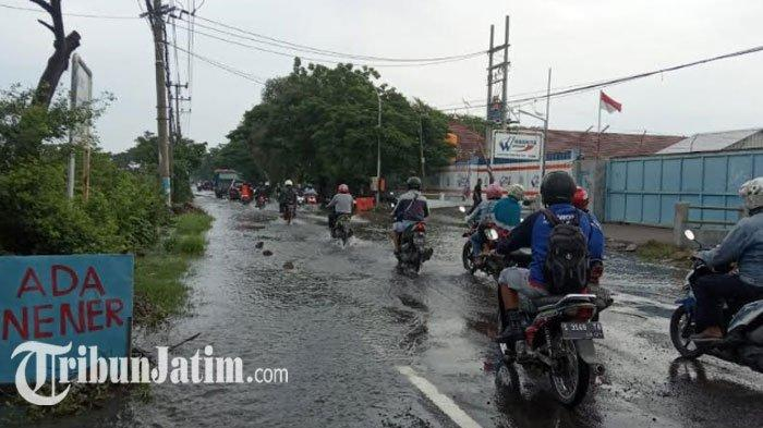 Sungai Kali Lamong Siaga Kuning, Banjir yang Rendam 5 Kecamatan di Kabupaten Gresik Mulai Surut