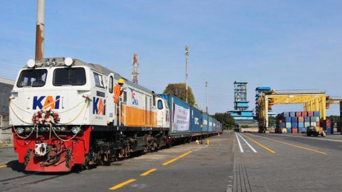 Efisiensi Distribusi Logistik, Konektivitas Jalur KA ke Pelabuhan Tanjung Perak Resmi Dibuka