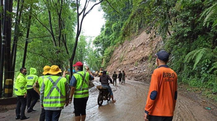 Update Kejadian Tanah Longsor di Pujon dan Ngantang, Jalan Sudah Bisa Dilalui Kendaraan
