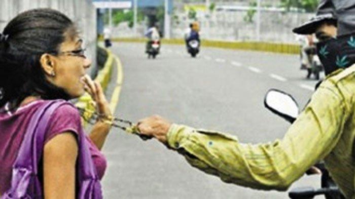 Kaget Ibu di Surabaya Dijambret Saat Lari Pagi, Pelaku Tanya Alamat Lalu Tarik Kalung 8 Gram