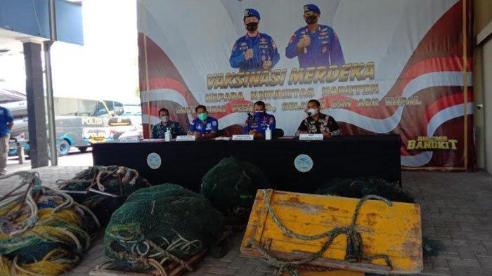 Jaring Ikan Pakai Alat yang Dilarang, 6 Kapal Nelayan Diamankan Ditpolairud Polda Jatim