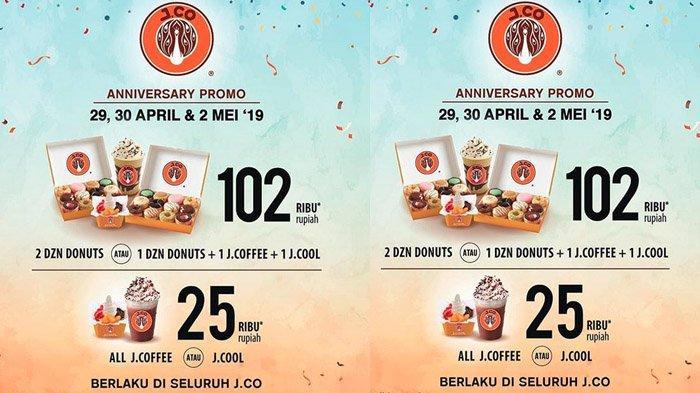 J.CO Bagi Promo Spesial Anniversary ke-13, Dua Lusin Donuts Cuma Rp 102 Ribu, Hanya Berlaku 3 Hari