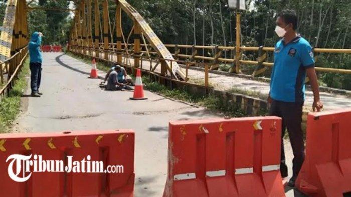 Jalur Kendaraan Besar Ngampon-Bendo Trenggalek Ditutup 25 Hari, Ada Pembenahan Jembatan Bendo