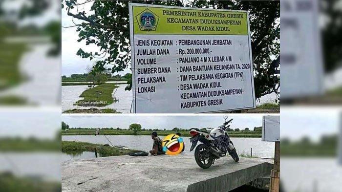 Nasib Verifikasi Jembatan Viral Senilai Rp 200 Juta, Kini DPUTR Lempar ke Kecamatan Duduksampeyan