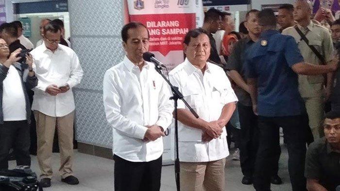 LIVE STREAMING Pertemuan Jokowi dan Prabowo di Stasiun MRT, Bahas 'Cebong' dan 'Kampret'