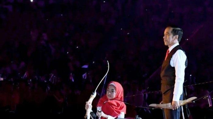 Bulan Karunia, Gadis Kecil yang Temani Jokowi di Pembukaan Asian Para Games 2018, Begini Sosoknya!