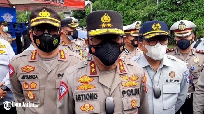 Kakorlantas Pori Tinjau Lokasi Penyekatan di Surabaya, Cek Kesiapan Jaga Larangan Mudik Lebaran 2021