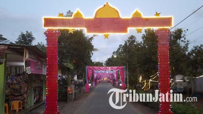 Kampung-kampung Seantero Trenggalek Bersolek Menyambut Hari Raya Idul Fitri 1442 H