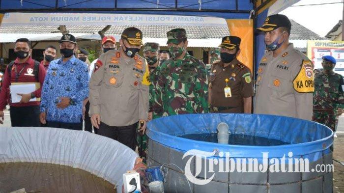 Kapolda Jatim Tinjau Asrama Polisi Kletak, Wali Kota Madiun Mengaku Yakin Tekan Angka Covid-19