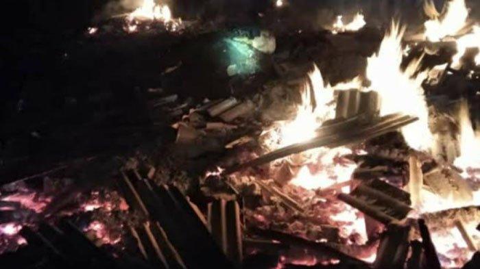 Bangunan Kandang di Bojonegoro Ludes Terbakar, Seekor Sapi Mati Terpanggang