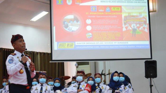 Kanim Surabaya Lakukan Pemaparan Virtual pada Penilai Nasional WBBM