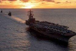 Dua Kapal Induk Amerika Serikat Sudah Berlayar ke Laut China, Bakal Pecah Perang dengan Tiongkok?