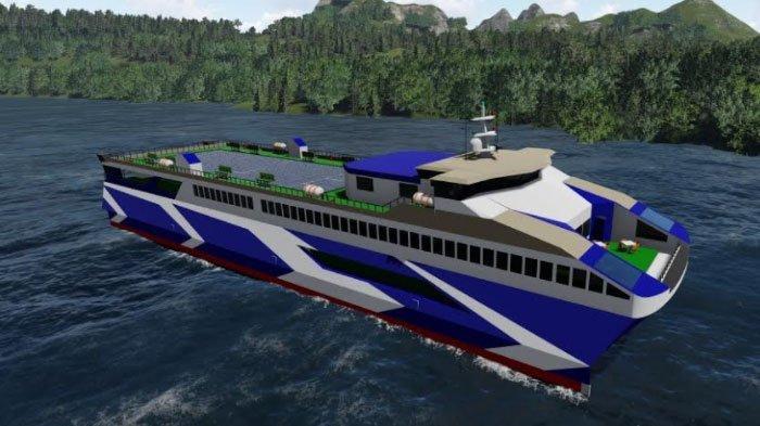 Kapal MV Lanterna Buatan Tim Nawasena ITS Juarai Kompetisi Desain Feri Tingkat Dunia