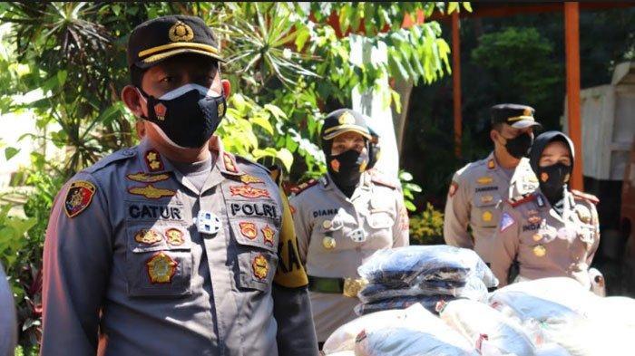 Polres Batu Salurkan Ratusan Kilogram Beras kepada Pekerja Kebersihan di TPA Tlekung