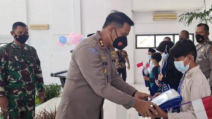 50 Anak Yatim Piatu Akibat Covid-19 Diangkat Jadi Anak Asuh Polres Blitar Kota
