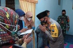 Kapolres Jajaran Polda Jatim Peduli Keluarga Awak KRI Nanggala-402, Bantu Ringankan Beban Keluarga