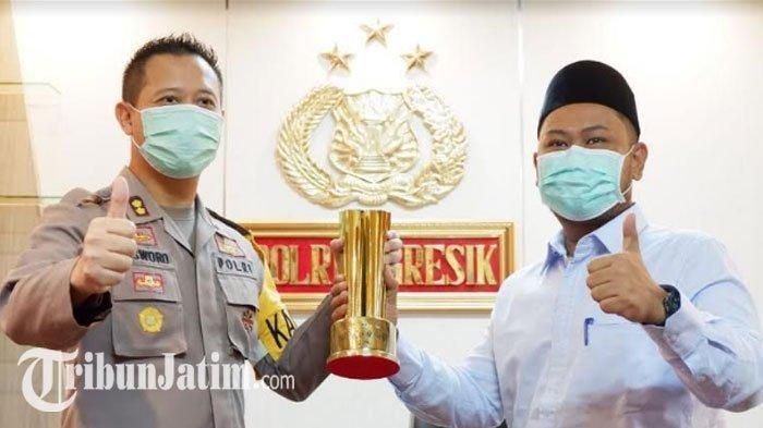 Kapolres AKBP Kusworo Terima Giri Pancasuar 2020 dari PWI & DPRD Gresik, Sosoknya Dinilai 'Solutif'