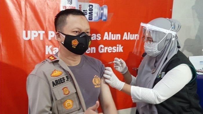 Terima Vaksin di Puskesmas, Kapolres Gresik dan Dandim 0817/Gresik Sebut Tidak Terasa Sakit