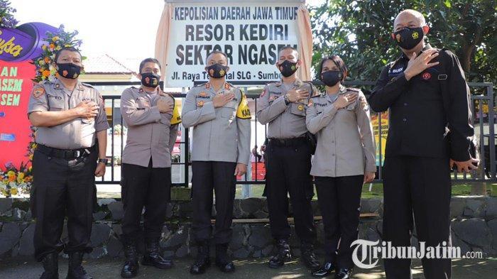 Polres Kediri Resmikan Kantor Polsek Ngasem di Area Simpang Lima Gumul Kabupaten Kediri